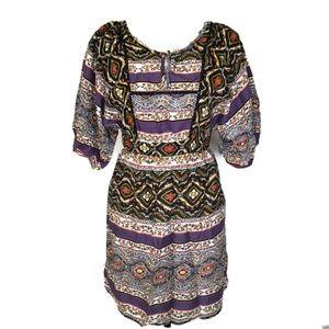 Jessica Simpson XS Purple Tribal Boho Dress